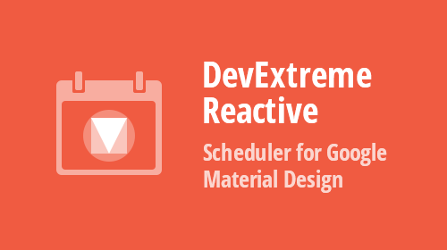 React Scheduler for Google Material Design