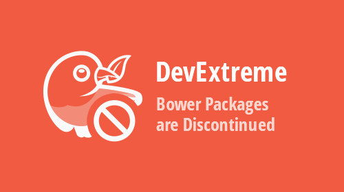 DevExpress Bower Packages are Discontinued