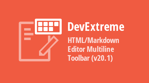 DevExtreme HTML/Markdown Editor – Multiline Toolbar (v20.1)