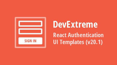 DevExtreme React Application Template – Authentication UI (v20.1)
