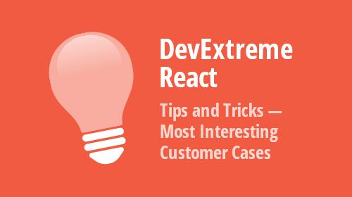 DevExtreme React - Tips & Tricks (November - December 2020)