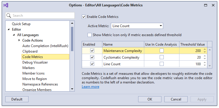 CodeMetrics