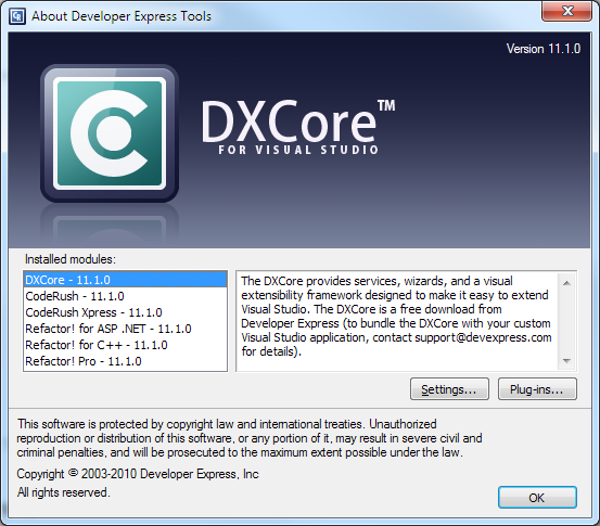 DXCoreAbout