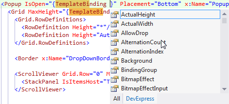 DevExpressIntellisense