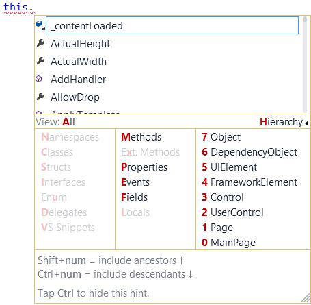 IntelliRushHierarchicalMenu