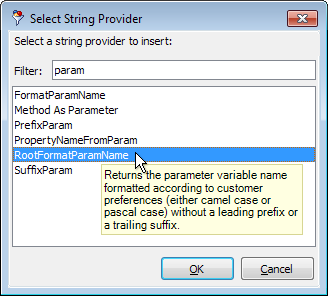 SelectStringProvider