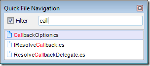 Quick File Navigation-call
