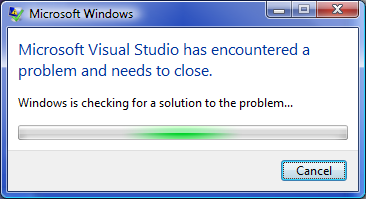 VisualStudioIsClosing