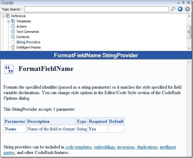 FormatFieldName