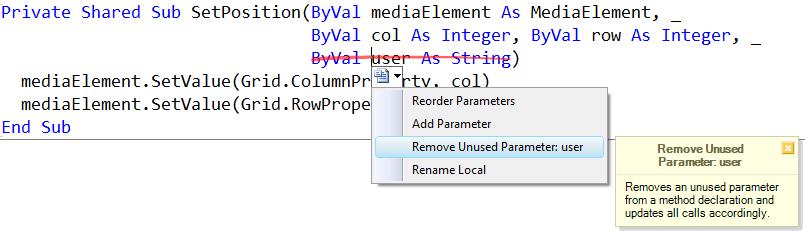 RemoveUnusedParamter
