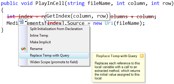 ReplaceTempWithQuery