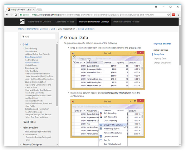 WinForms, WPF & ASP NET End-User Documentation: Now on GitHub