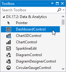 WPF Dashboard on the Visual Studio Toolbox