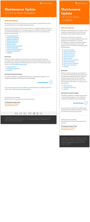 Transactional Design: Responsive HTML Email