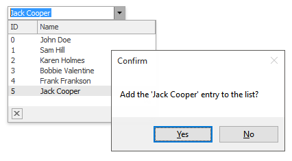 WinForms Lookup Controls - Add New Values