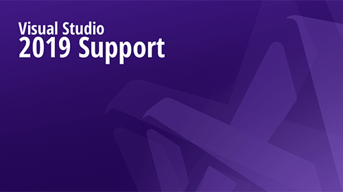 Visual Studio 2019 Support