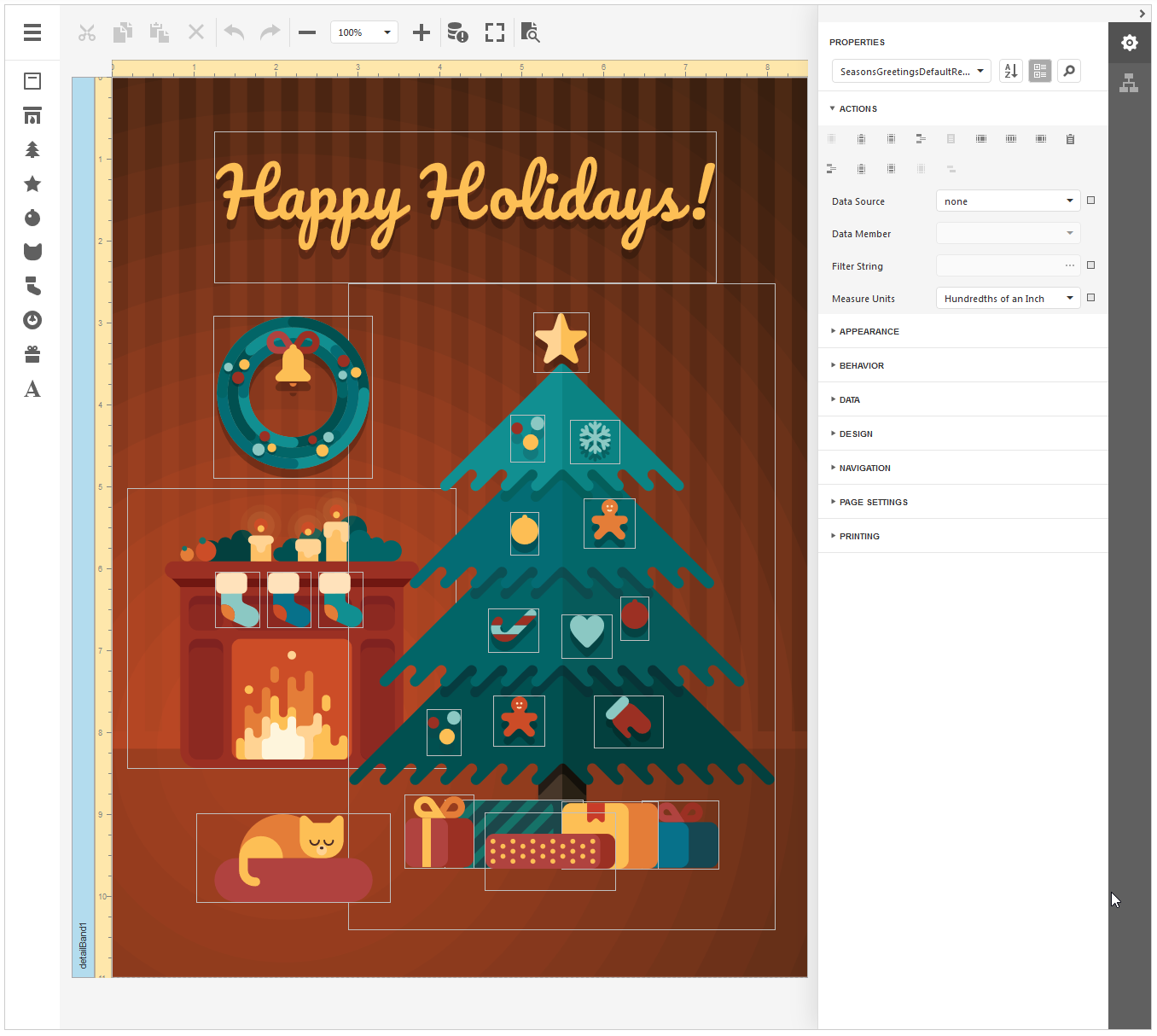 DevExpress Reporting - Season's Greeting Tool