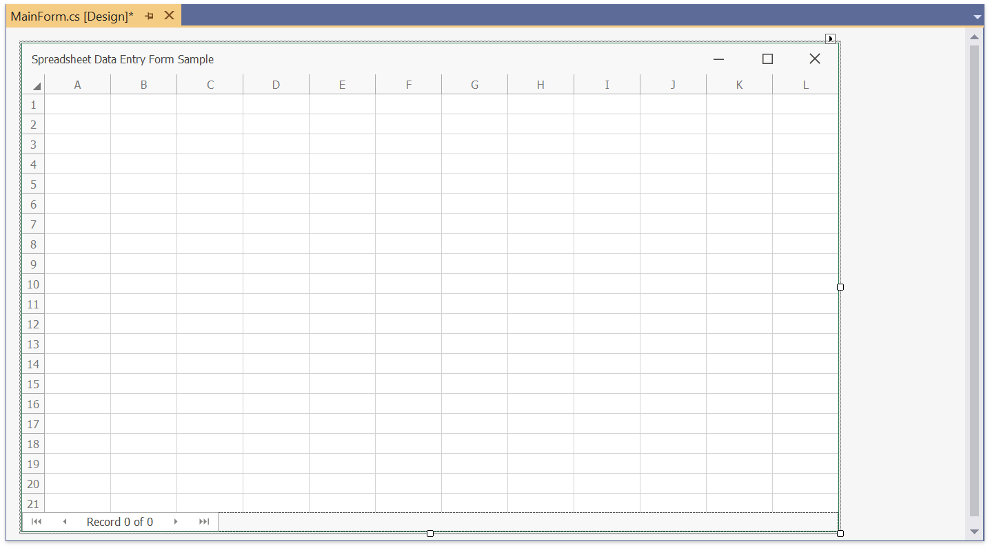 Winforms And Wpf Spreadsheet How To Create A Data Entry Form