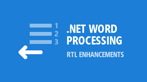 .NET Word Processing — RTL Enhancements