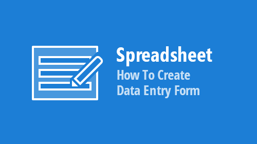 WinForms and WPF Spreadsheet – How to Create a Data Entry Form