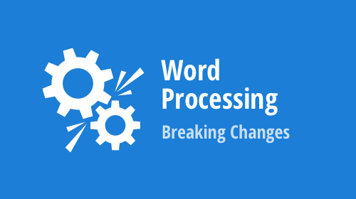 Word Processing (WinForms, WPF, Office File API) - Breaking Changes (v19.2)