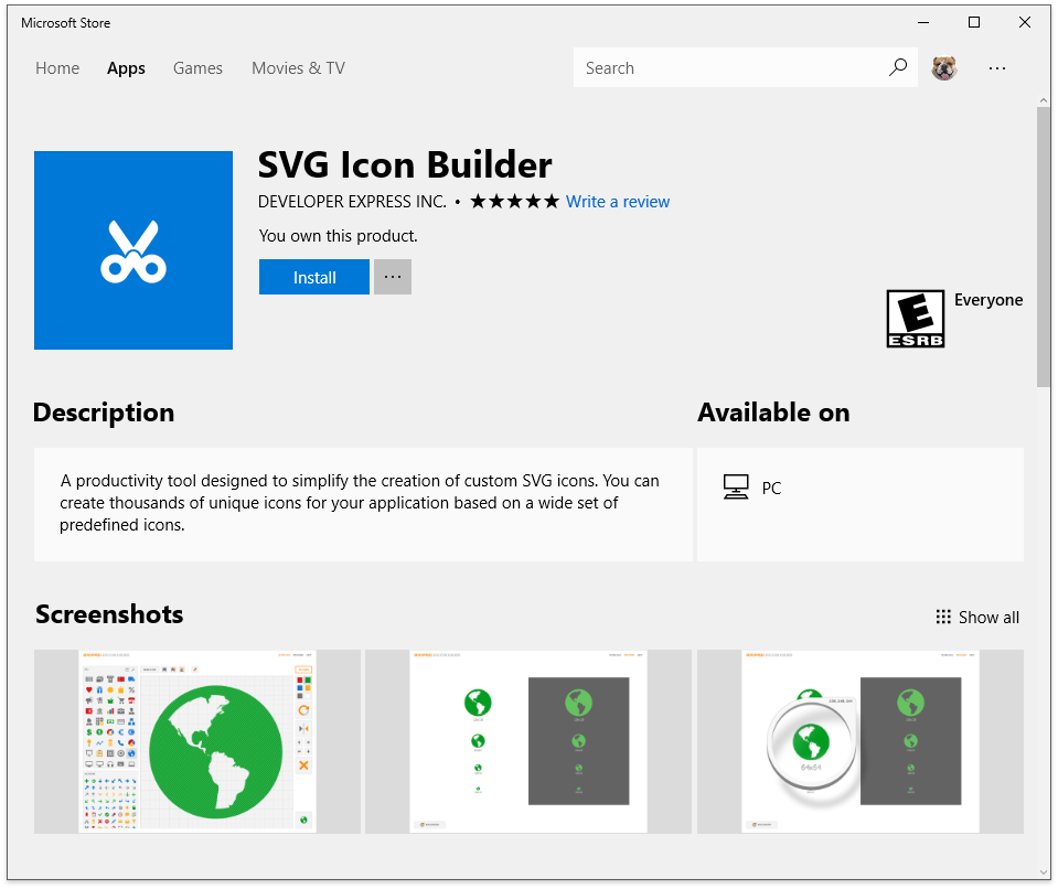 SVG Icon Builder: Now Available in the Microsoft Store