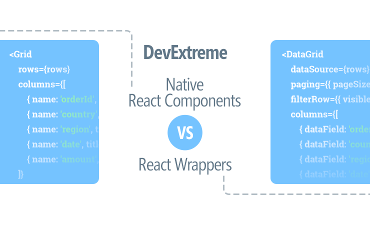DevExtreme Native React Components vs React Wrappers