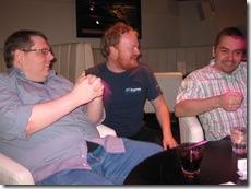 Rory chats to Tim Roberts and Matthew Fortunka