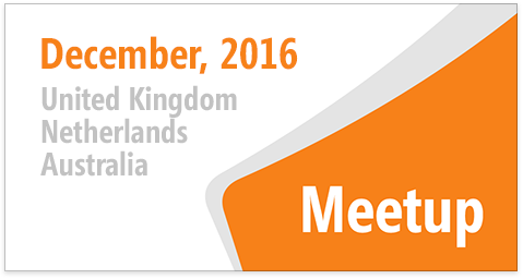 DevExpress Meetups in Dec 2016 - Australia, Netherlands, United Kingdom