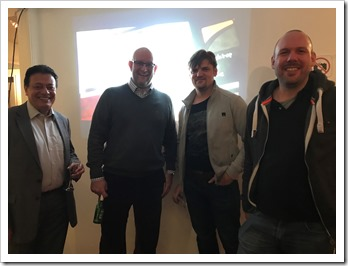 Oliver Sturm with customers at the DevExpress Meetup in London