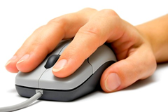 Finger on a mouse button