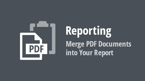 Reporting - Merge PDF Documents into Your Report (v20.1)