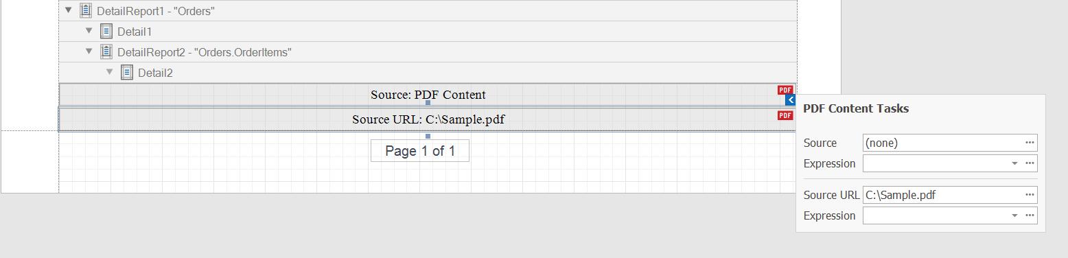 Report Designer - PDF Content Control