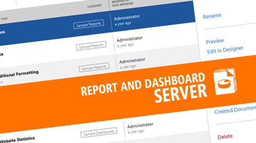Report and Dashboard Server - New Administrative Panel UI, Localization, HTML5 Document Viewer (CTP, v18.1)