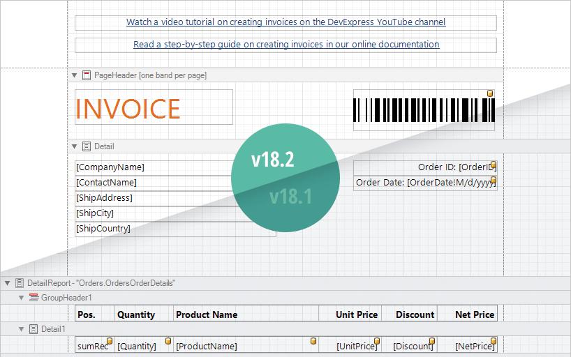 Redesigned Report Designer Surface
