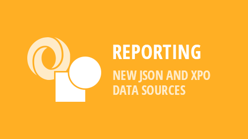 Reporting - New JSON and XPO Data Sources (v18.2)