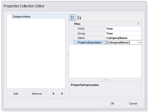 XPO Properties collection editor