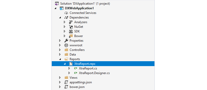 Items in Solution Explorer