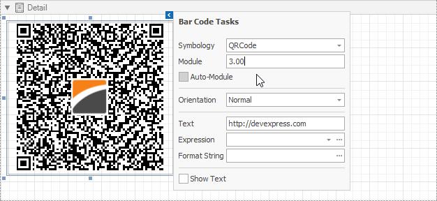 DevExpress QR Code
