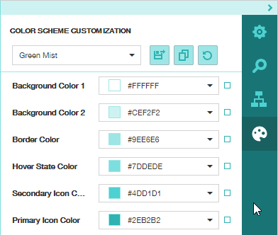 Custom Color for Tabs Panel