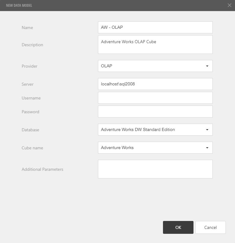 Create OLAP Data Model