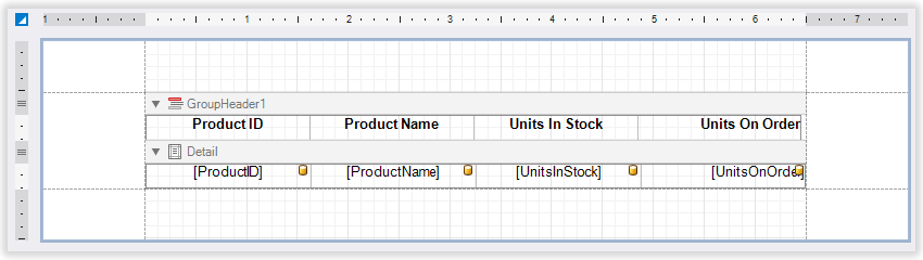 Table with misaligned header columns