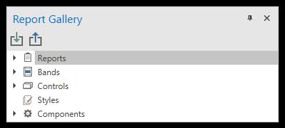 Report Gallery Toolbar