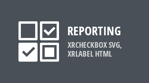 Reporting - XRCheckBox SVG, XRLabel HTML (v19.1)
