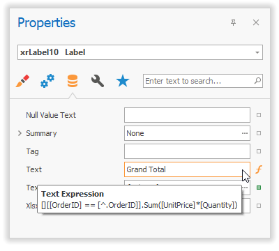 Expression Property Tooltips
