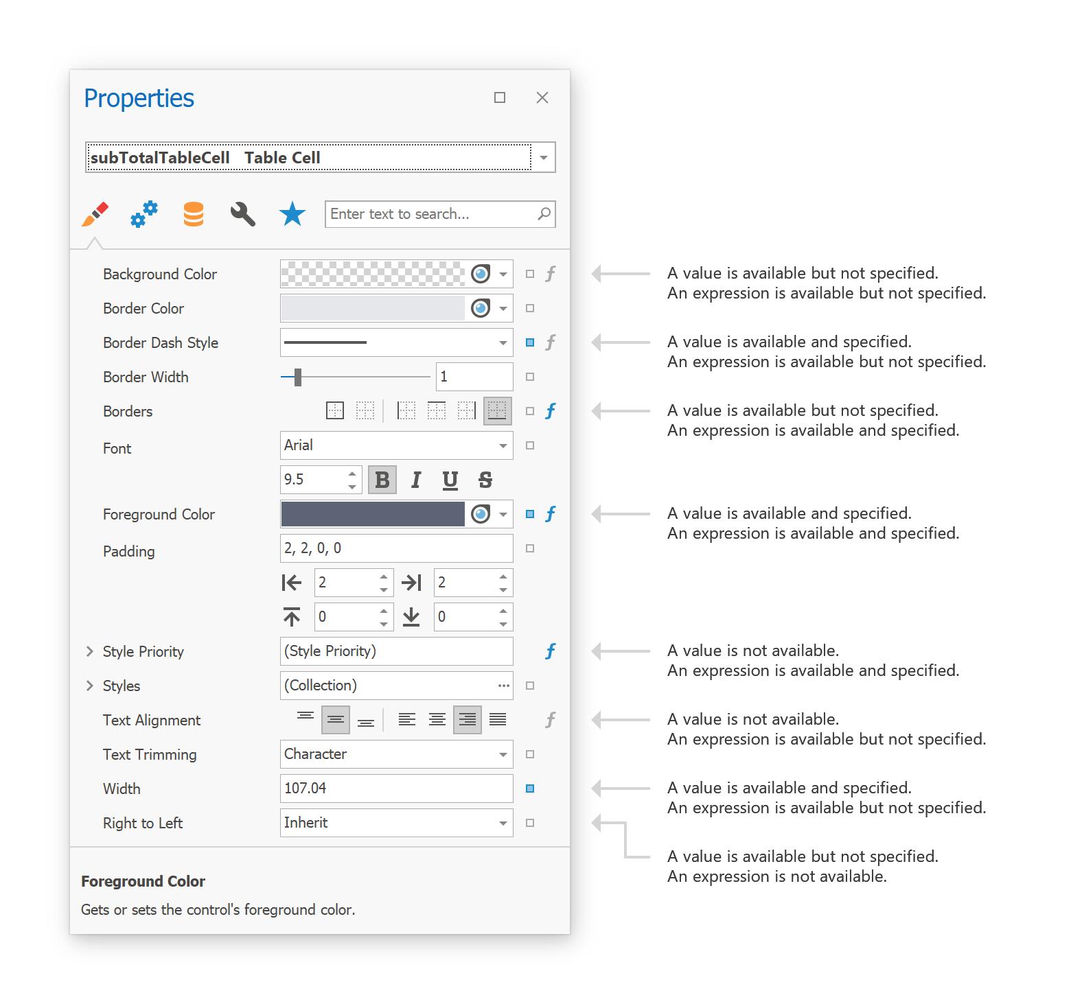 Report Designer - Updated Properties Panel