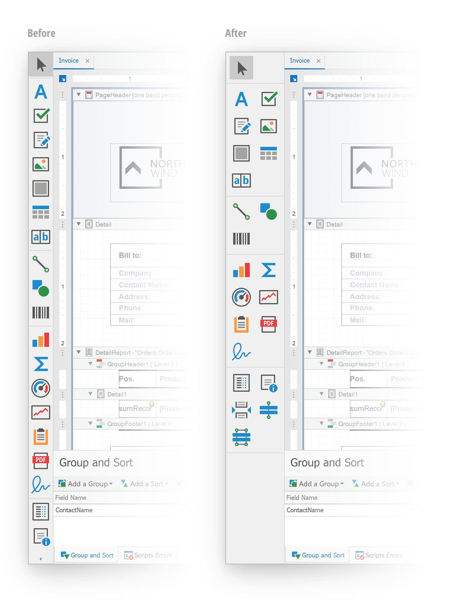 Report Designer - Updated Toolbox