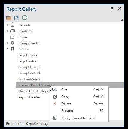 WPF Report Designer - Report Gallery