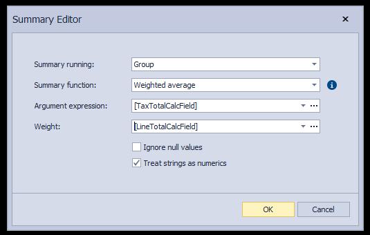 Summary Editor - WinForms