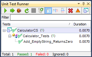 CalculatorFixedTestPassingTestRunner